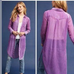 Anthro Akemi + Kin lavender purple duster tunic
